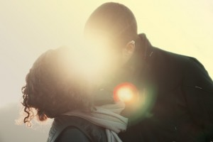 Beijo romantico