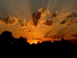 Sol nas nuvens